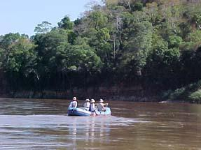 Boat on Mangoky River in Madagascar