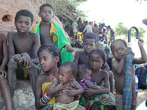 Group of children in Madagascar