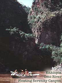 Ethiopia Omo River Floating in Serenity Canyon