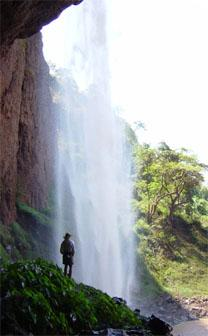 Waterfall at Omo River Ethiopia