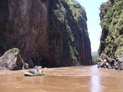 River rafting on Omo River in Ethiopia