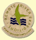 Remote River Expeditions logo as a fabric badge
